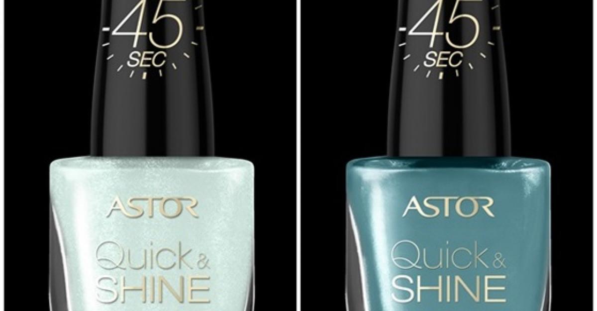 Astor Quick & SHINE ofera stralucire maxima unghiilor tale!