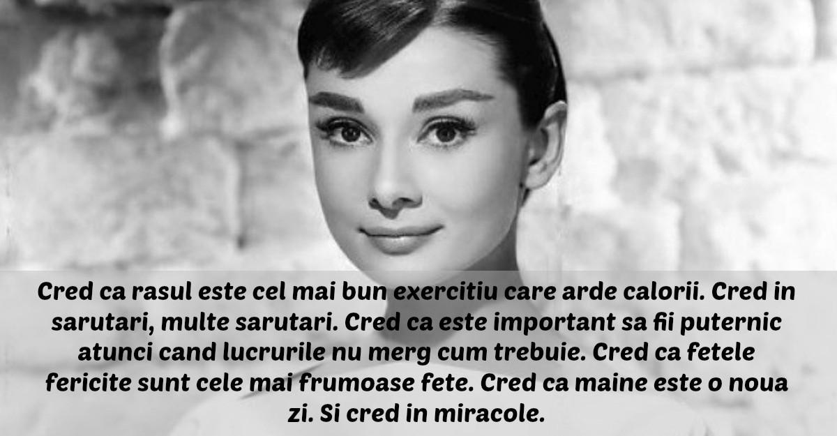 Cele mai frumoase citate spuse de Audrey Hepburn