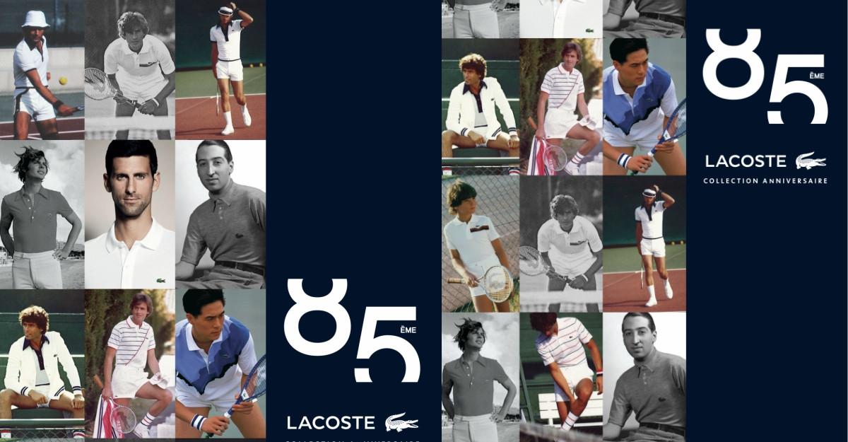 A 85-a colecție aniversară LACOSTE - Un tribut dedicat celor opt decenii de stil