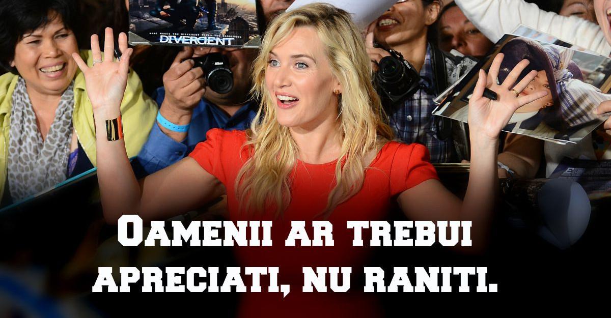 Kate Winslet: Opriti-va din aratat cu degetul!