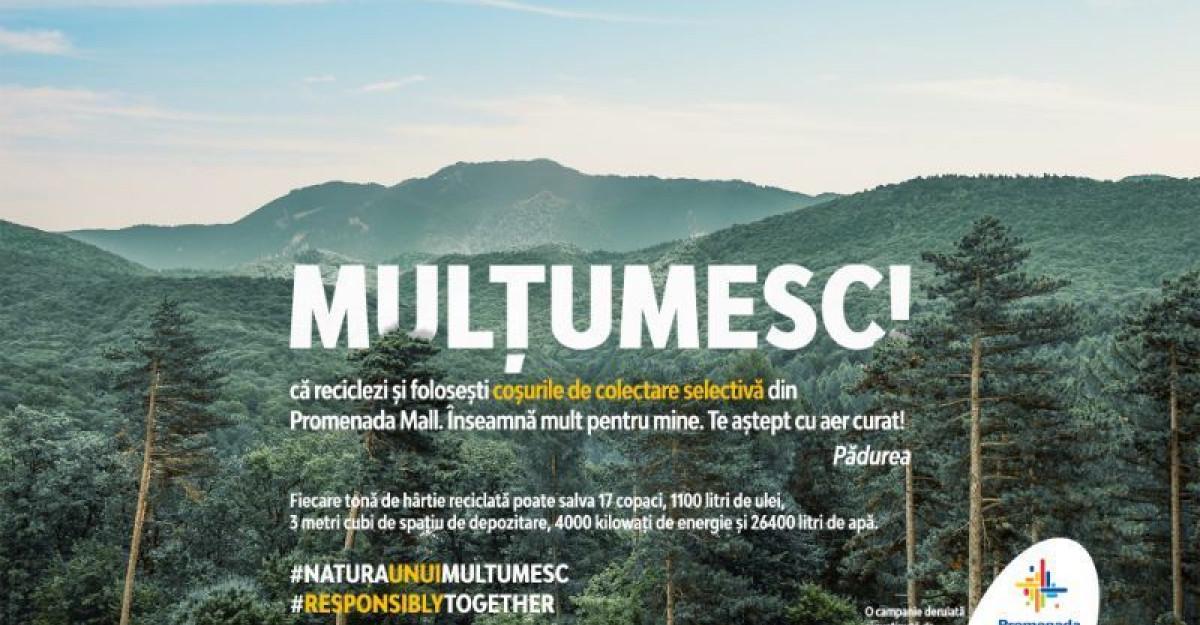 Promenada Mall demarează campania Natura unui MULȚUMESC!