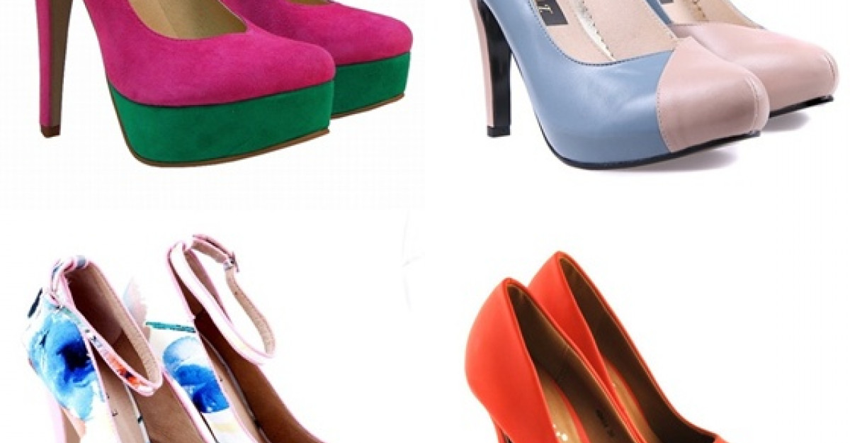 Cei mai frumosi pantofi colorati