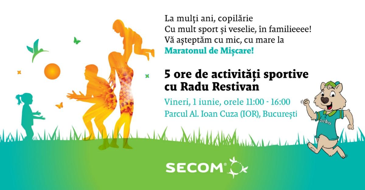 De 1 iunie, Secom invită familiile să celebreze copilăria prin jocuri sportive