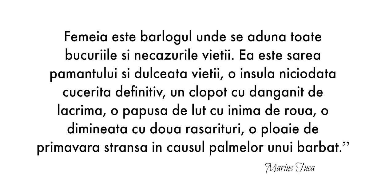 Alfabetul dragostei. Cele mai frumoase citate despre iubire dupa Marius Tuca