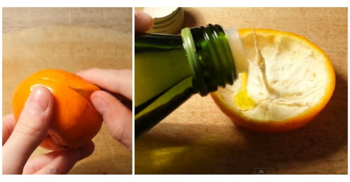 Video: Scoate toata pulpa din coaja de portocala, apoi pune putin ulei. Ce urmeaza este INCREDIBIL