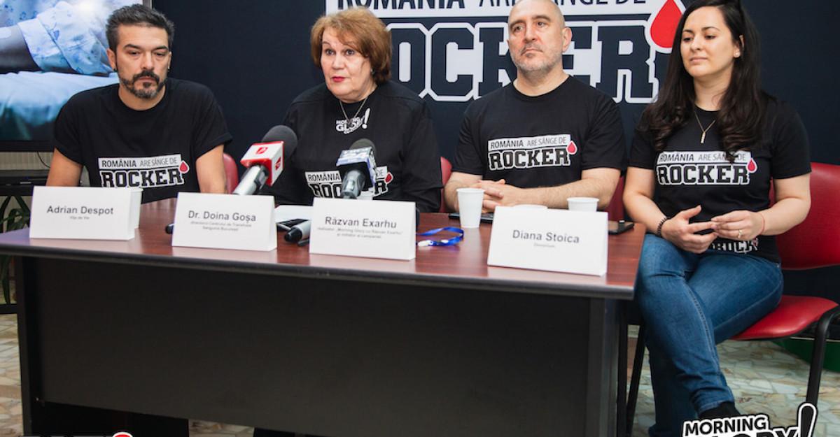 Peste 1.000 de români cu sânge de rocker au descărcat aplicația Donorium, în primele 4 zile ale campaniei Morning Glory și ROCK