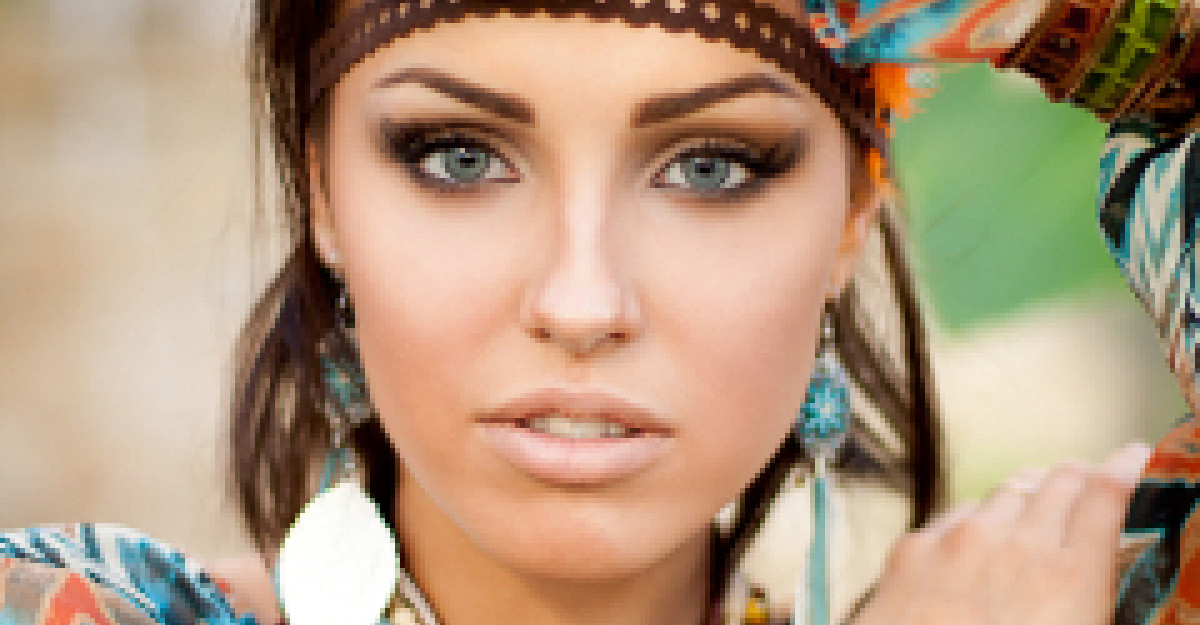 Practic: Make up boho style