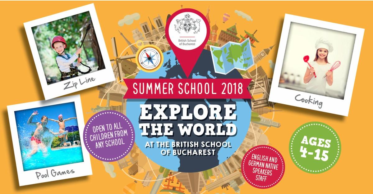 British School of Bucharest te invită într-o călătorie în jurul lumii la ediția 2018 a Școlii de Vară