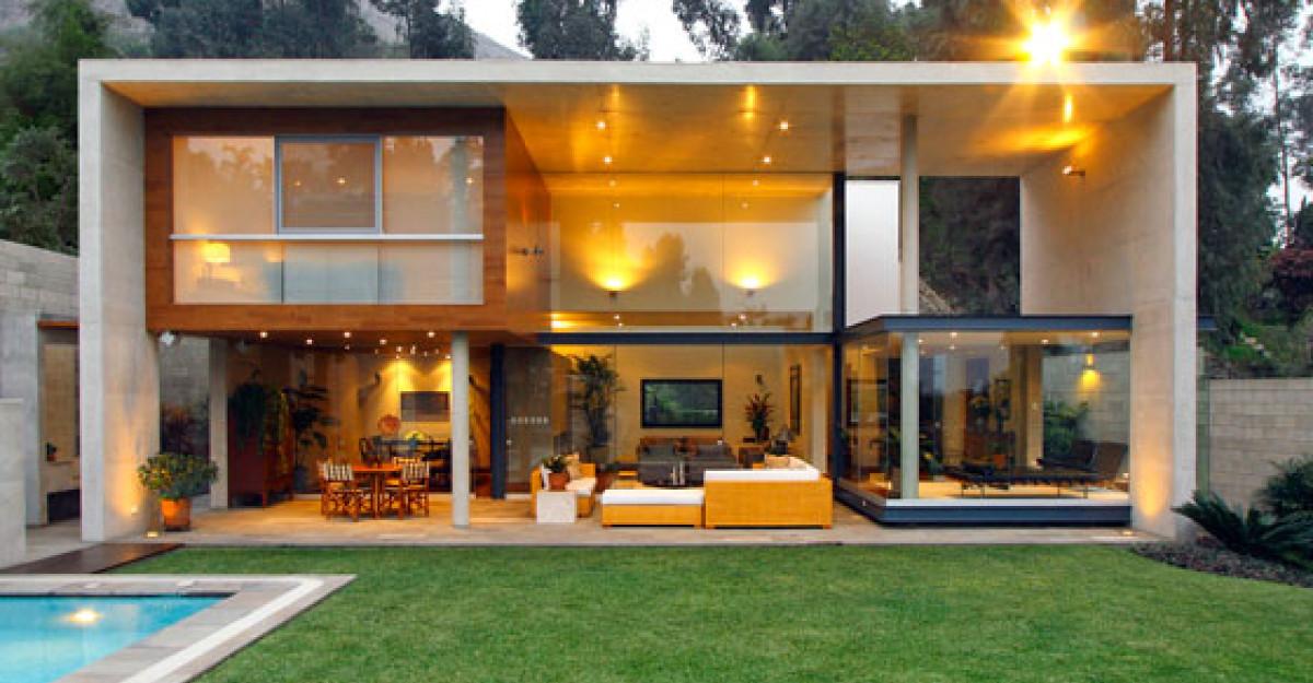Casa S: o casa contemporana, ce pare ca pluteste