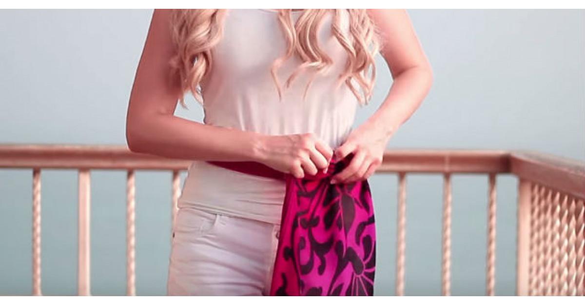 Video: Infasoara o esarfa in jurul taliei. Ce face apoi? GENIAL