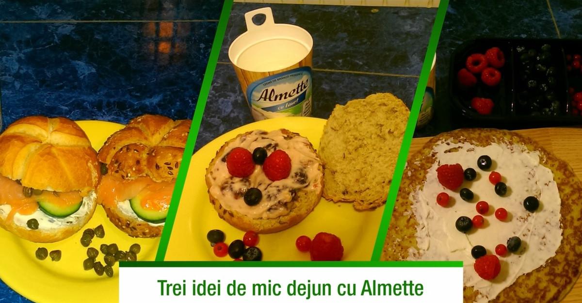 Trei idei de mic dejun cu Almette