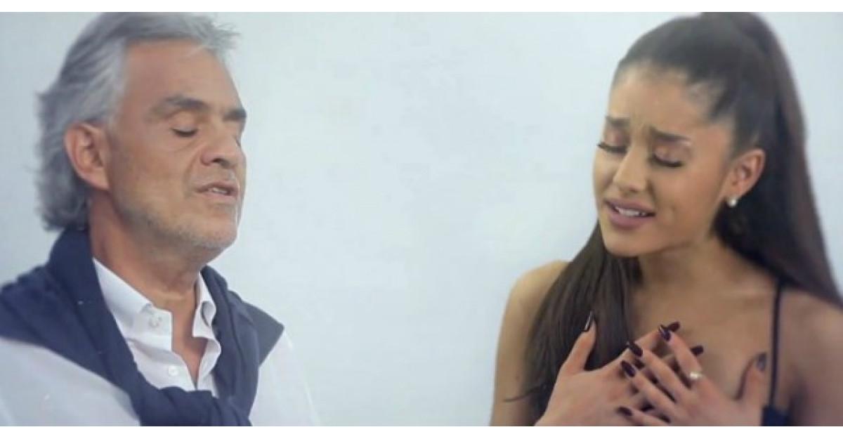 Video: Noul videoclip al Arianei Grande cu Andrea Bocelli iti va da fiori