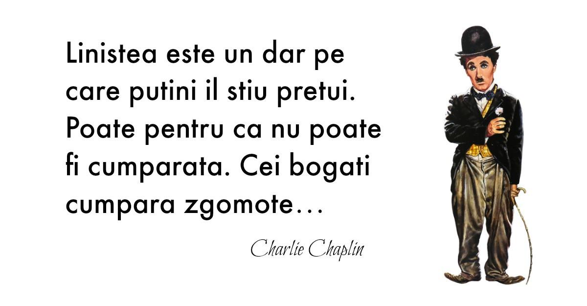 Lectii de viata: doza de optimism de la Charlie Chaplin