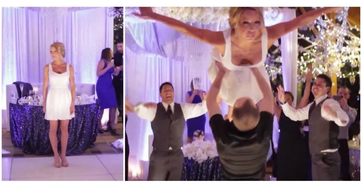 Video: S-a casatorit cu instructorul ei de dans. Invitatii au fost socati cand au vazut ce dans au pregatit