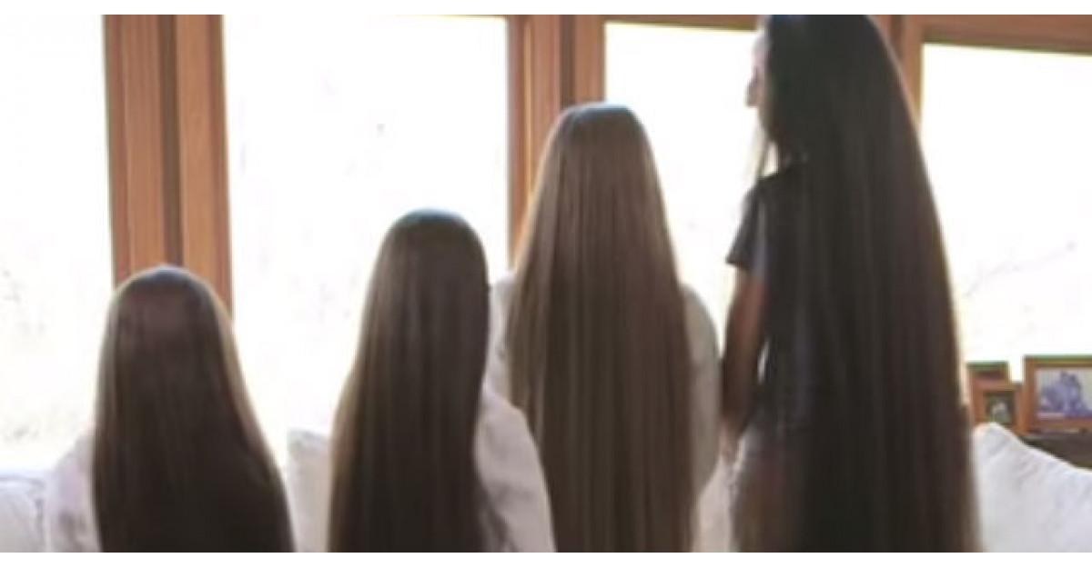 Video: Mama si cele trei fiice se aliniaza una langa cealalta. Cand se intorc? WOW