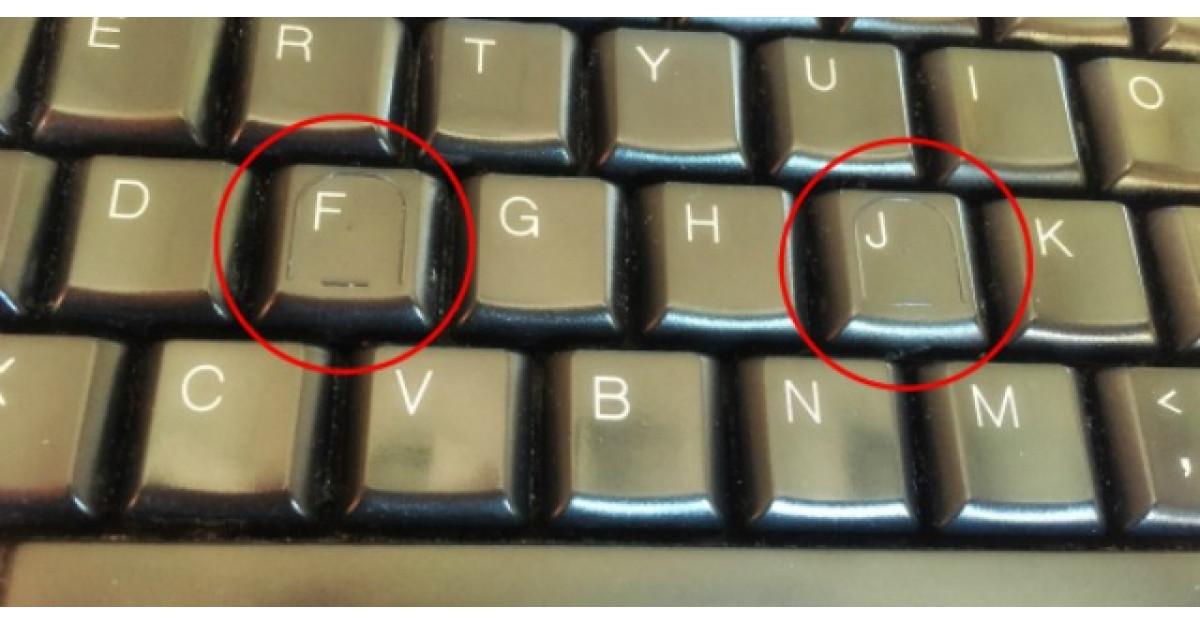 Motivul pentru care literele F si J de pe tastatura au mici denivelari?
