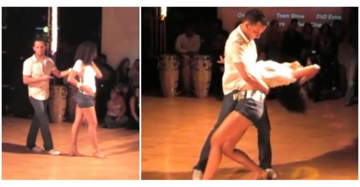 Video: Se tine dupa ea pana pe ringul de dans. Cateva momente mai tarziu? EXTRAORDINAR