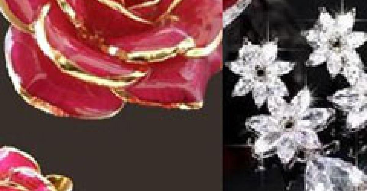 Cele mai frumoase bijuterii in culori si modele florale pentru mirese