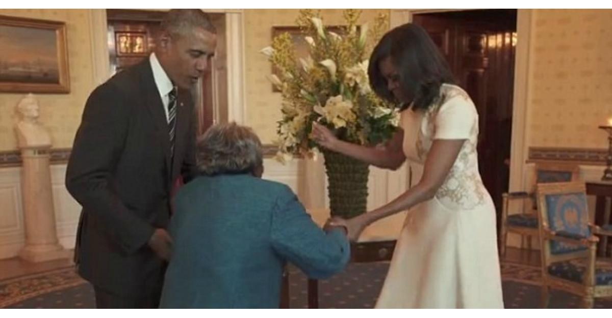 Aceasta batranica de 106 ani danseaza cu Presedintele Obama