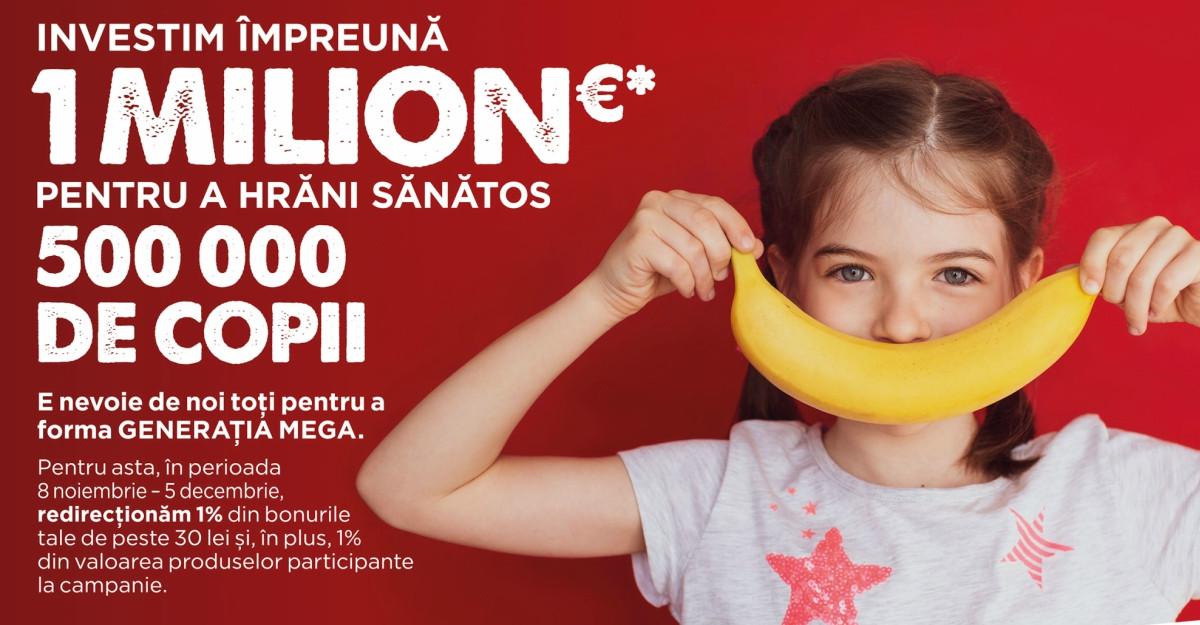Mega Image va investi 1 milion de euro în educarea copiilor privind alimentația sănătoasă