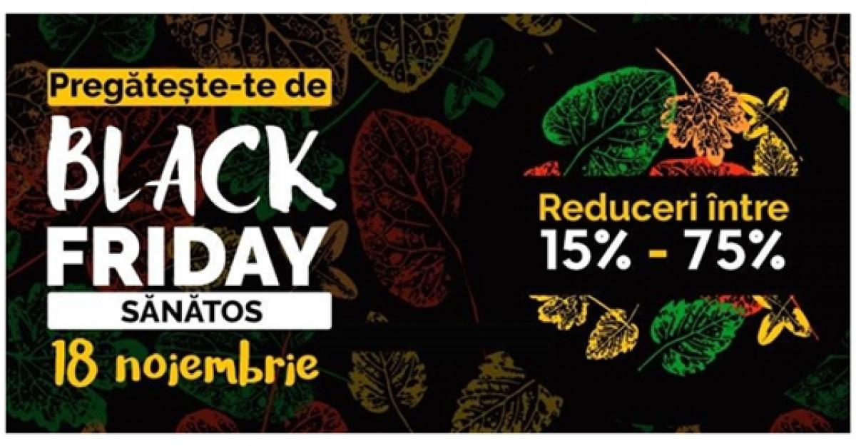 Black Friday 2016 pe Vegis.ro: Reduceri pana la 75% la produse naturiste, pe 18 noiembrie