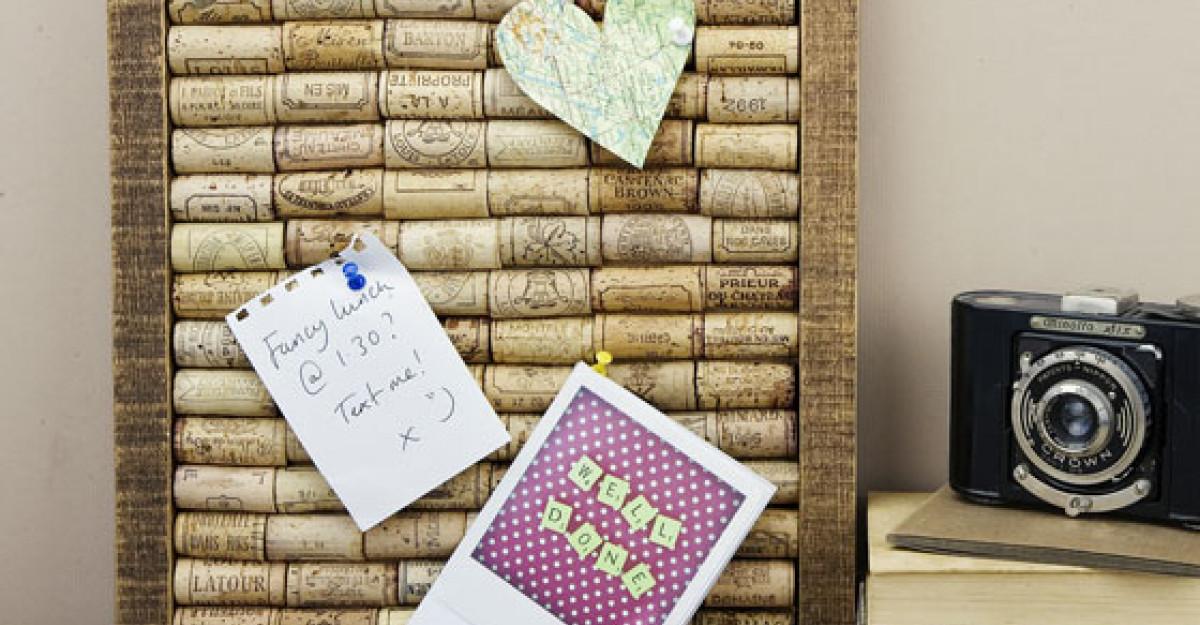 DIY: 10 super idei de a folosi dopurile din pluta - Partea a II-a