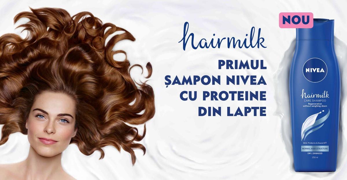 Incearca Hairmilk, primul sampon NIVEA cu proteine din lapte