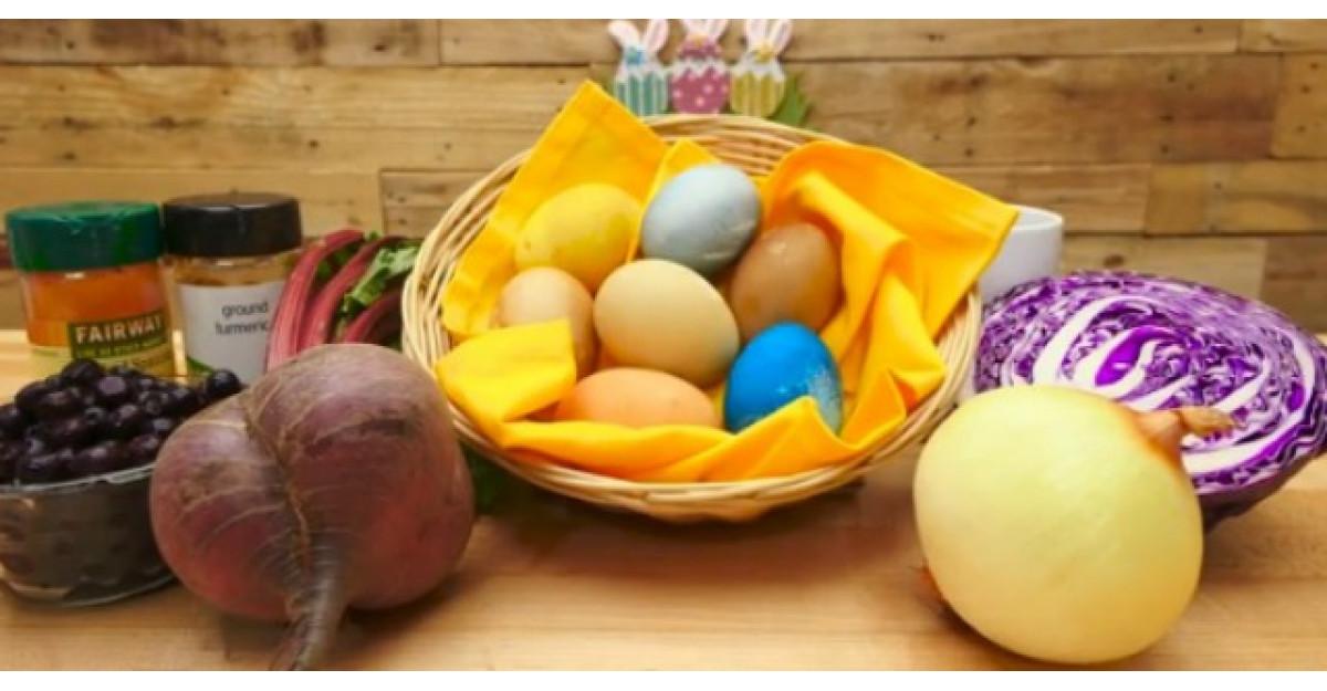 Cum sa vopsesti ouale de Paste folosind colorant NATURAL?