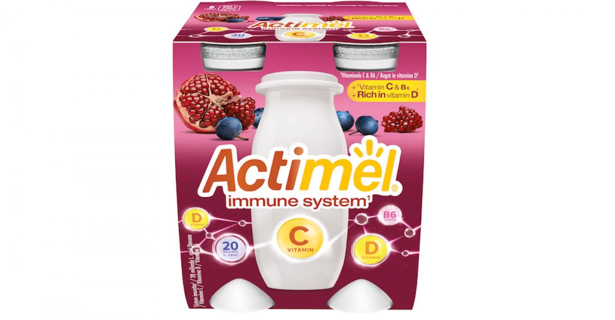 Danone completează portofoliul de iaurturi Actimel cu o formulă mai puternică, îmbogățită cu vitamina C