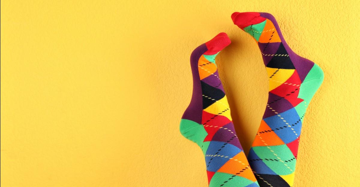 Sosete colorate cu imprimeu deosebit