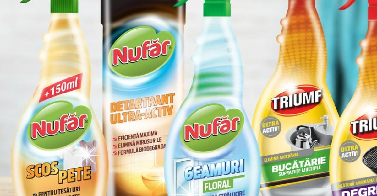 Farmec relanseaza cele doua branduri consacrate pentru curatenia locuintei: Nufar si Triumf