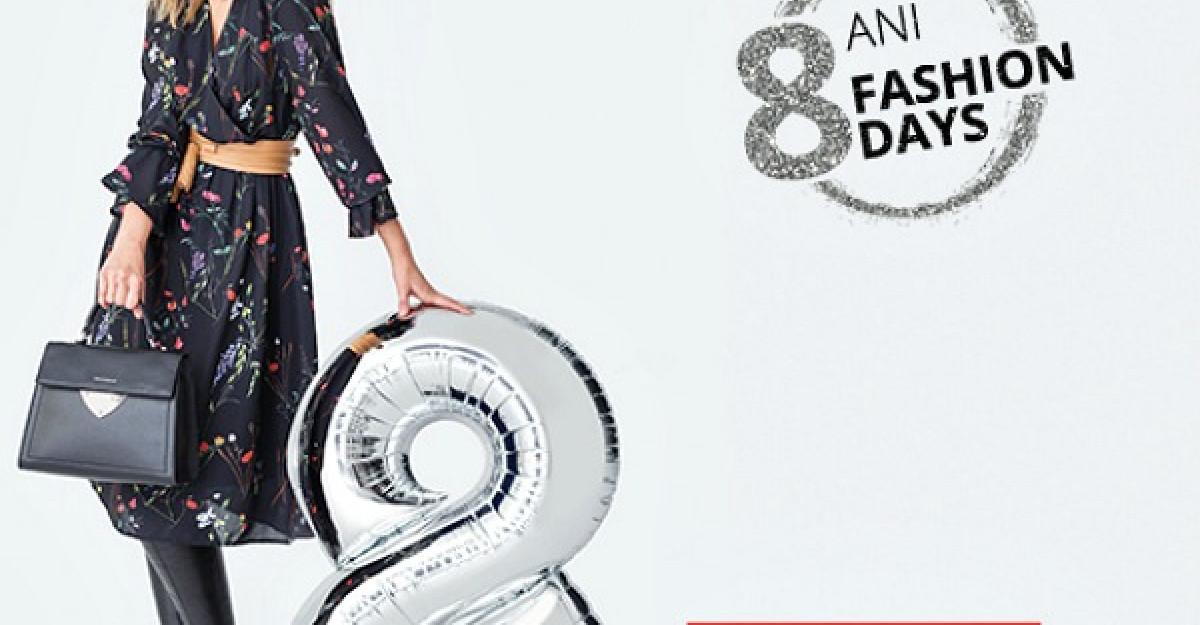 Fashion Days aniverseaza 8 ani in Romania, cu reduceri de pana la 70% la sute de mii de produse