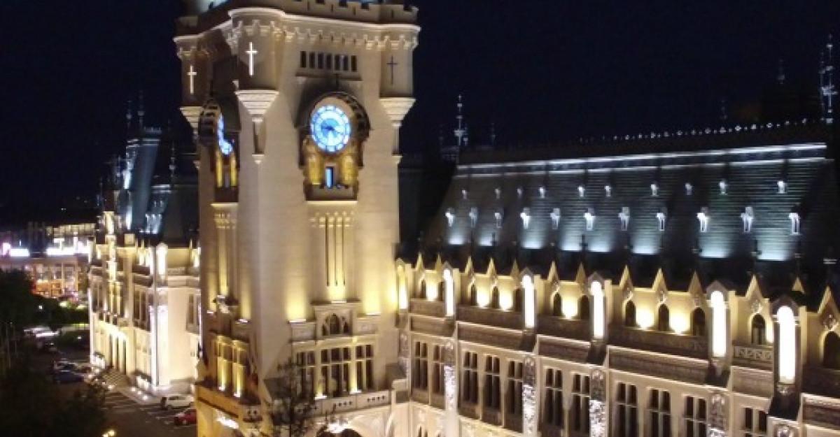 Palatul Culturii din Iasi: Cel mai mare proiect de iluminat arhitectural cu LED din Romania