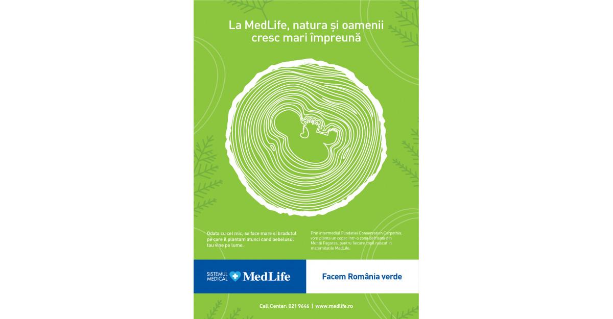 MedLife planteaza un copac pentru fiecare nou-nascut,in proiectul Facem Romania verde