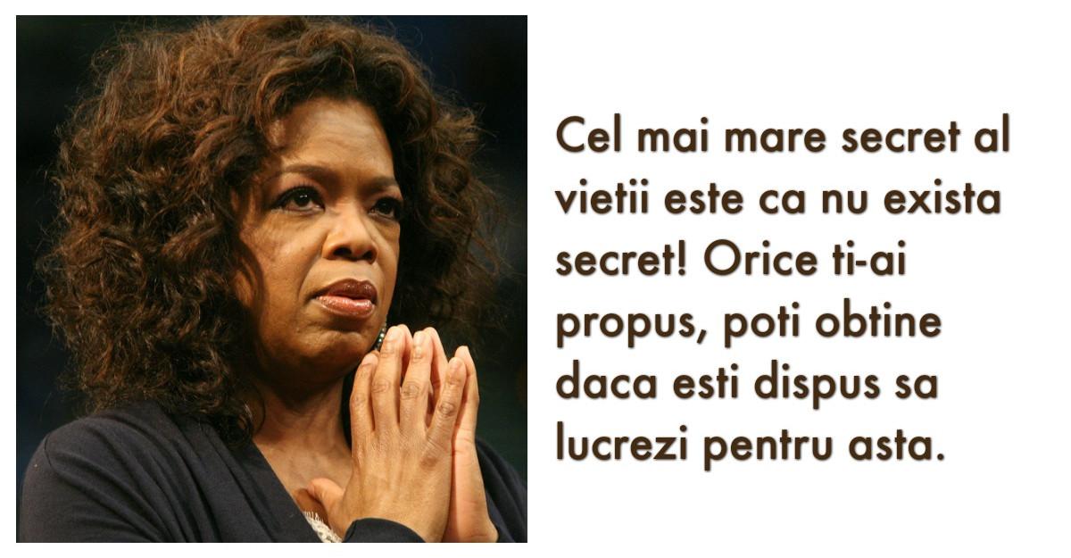 10 Lectii de viata senzationale de la Oprah, femeia care mananca succesul pe paine