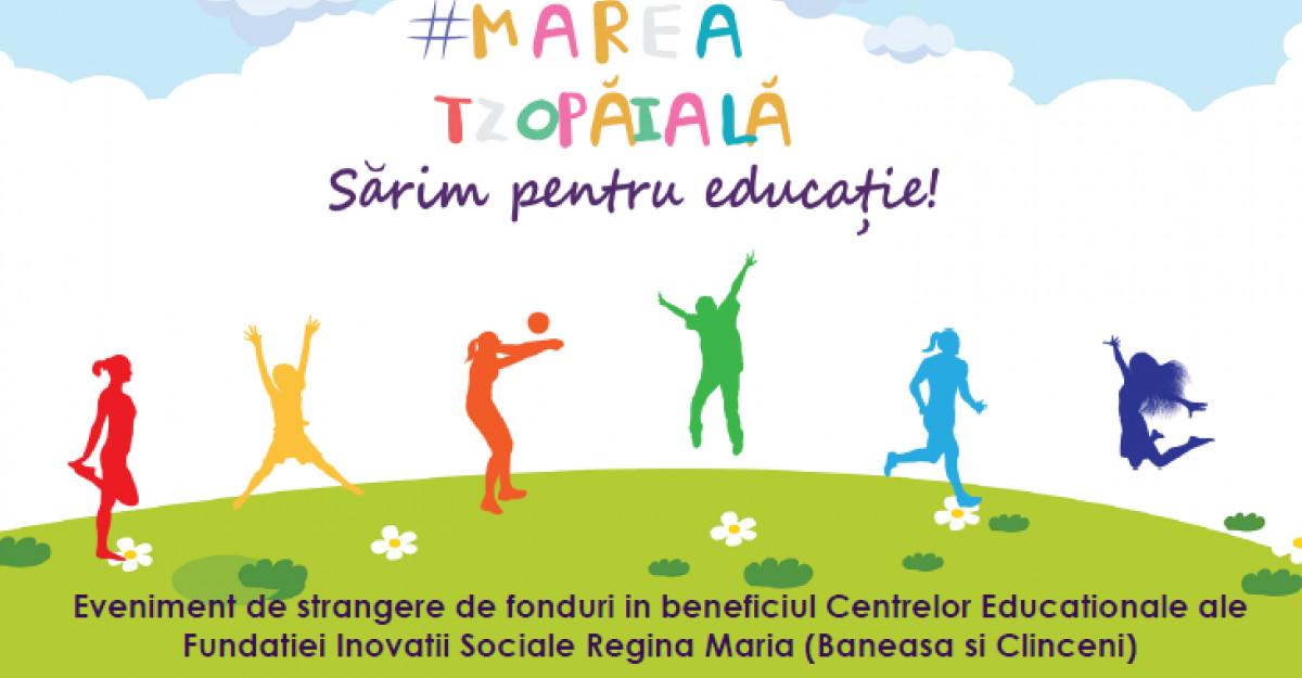 #MareaTzopăială, bucură-te de mişcare şi oferă copiilor o şansă la educaţie!