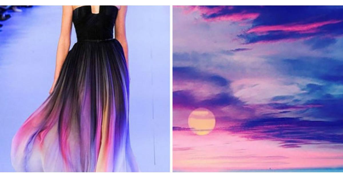 Imagini de basm: Un artist compara rochiile designerilor cu natura
