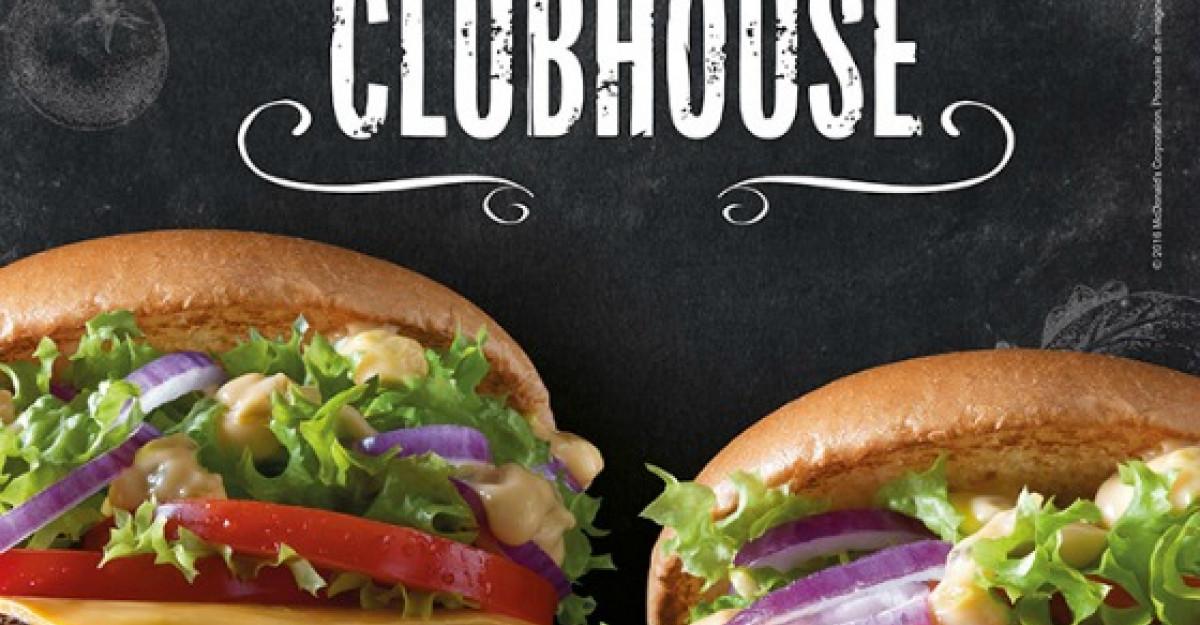 McDonald's lanseaza doi noi bugeri: Bacon Clubhouse cu vita si pui