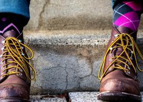 Șosete colorate de damă groase și vesele pentru ținute ce ies în evidență