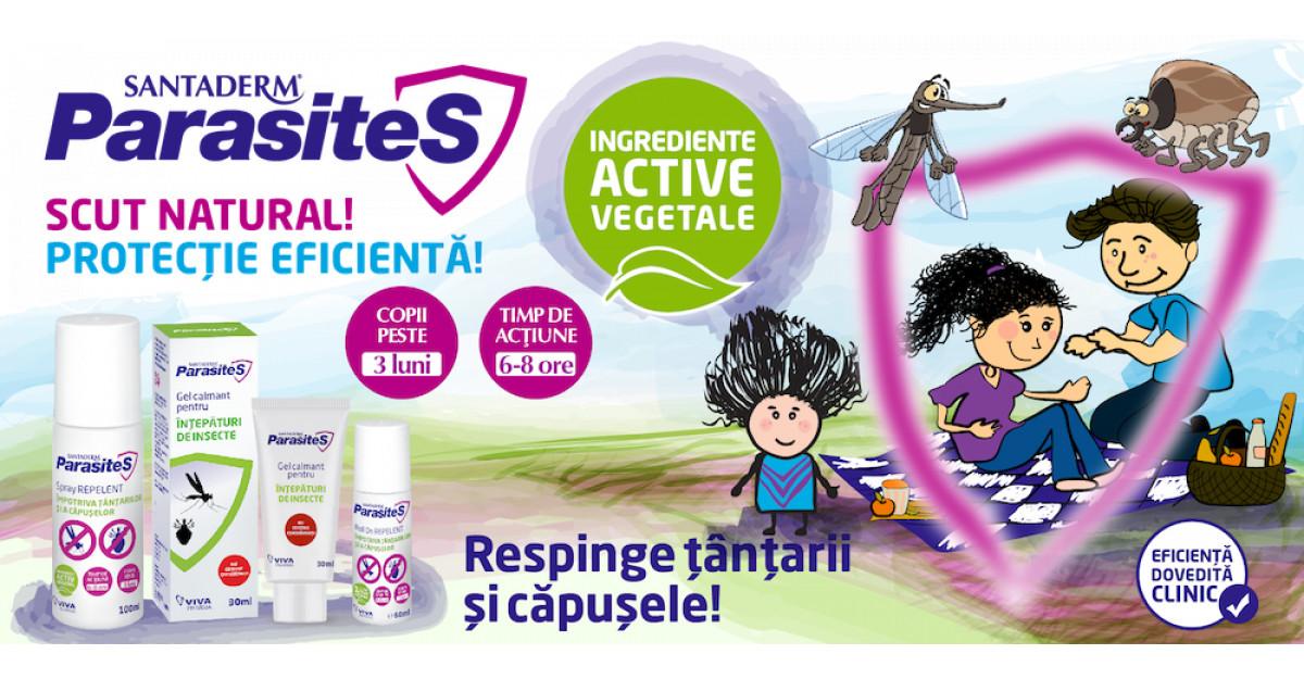 SantaDerm ParasiteS, scutul tău împotriva țânțarilor și căpușelor