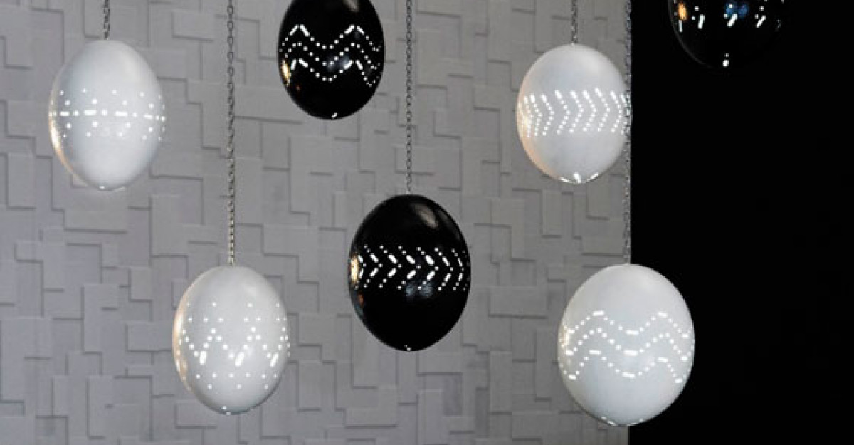 Pas cu pas: Cum se creeaza un iluminat elegant din oua de strut