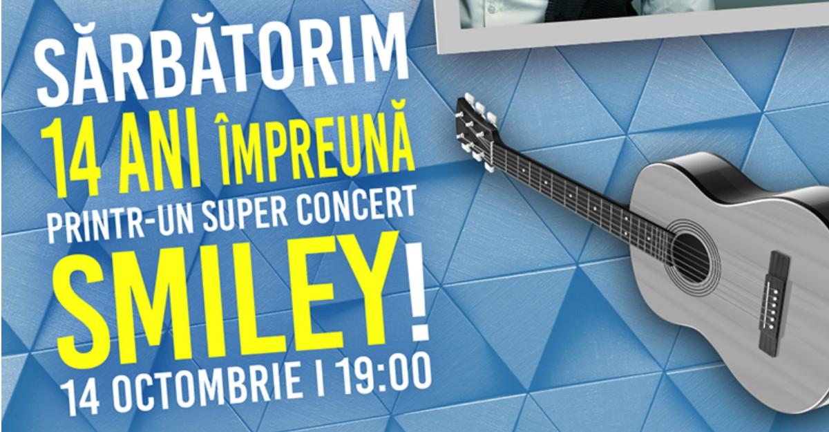 Super-concert Smiley la aniversarea a 14 ani de Plaza România