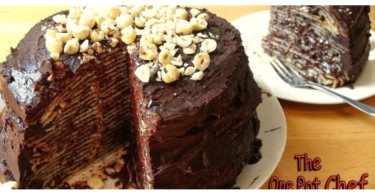 Tort de clatite cu Nutella. Il faci in maxim 10 minute