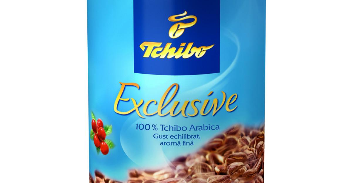 Tchibo Exclusive - acelasi gust si aceeasi aroma 100% Tchibo Arabica intr-un nou ambalaj