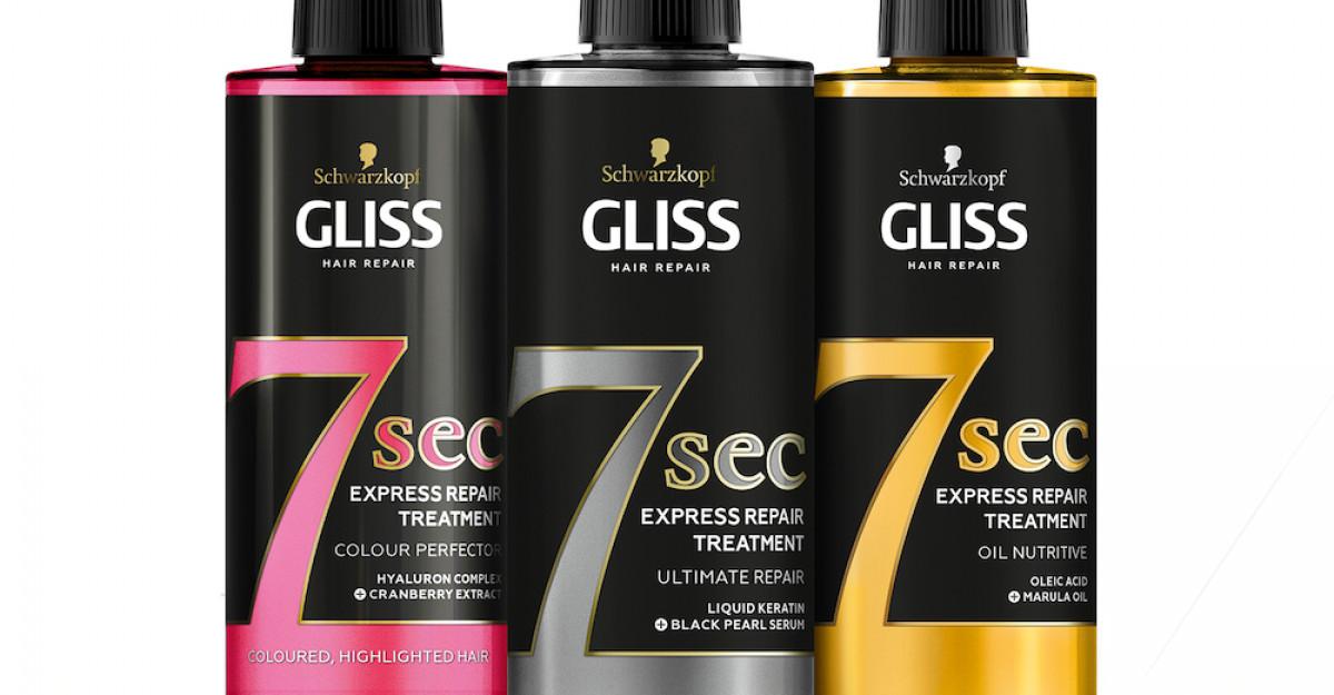 Noul GLISS TRATAMENT EXPRESS 7 sec, îngrijire profundă a părului în doar 7 secunde