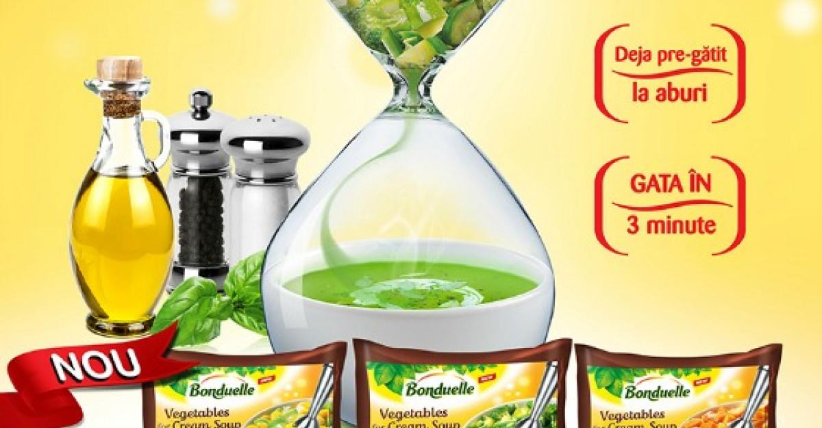 Bonduelle lanseaza prima gama de Legume pentru Supa Crema, deja pregatite la aburi