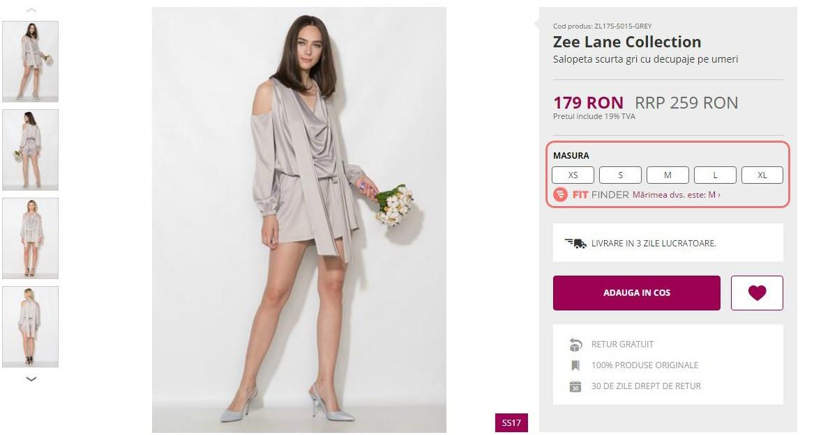 Fashion Days lanseaza in premiera Fit Finder