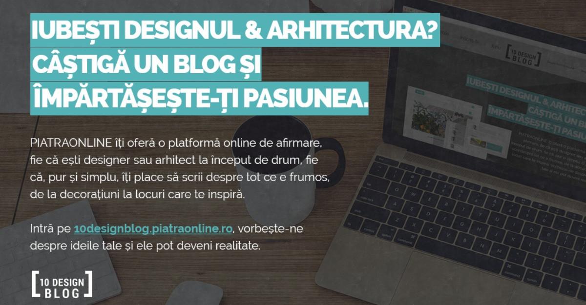 PIATRAONLINE lanseaza 10DesignBlog