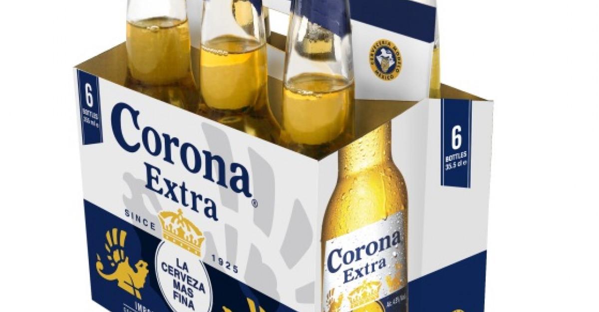 Corona Extra poarta haine noi