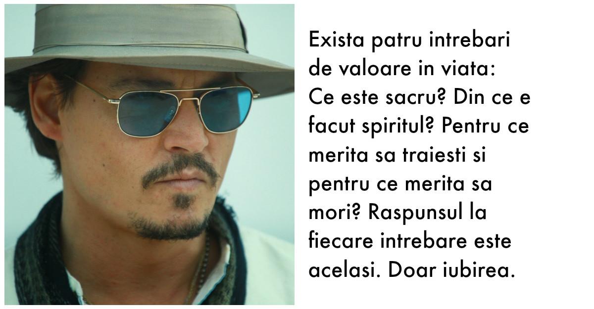 Johnny Depp: Citate care vor schimba modul in care vezi viata